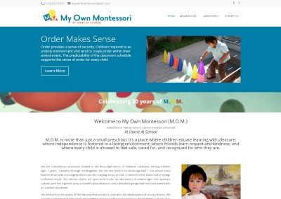 On the Bay Design & Consulting Website Design My Own Montessori