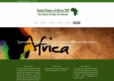 On the Bay Design & Consulting Website Design United States of Africa 2017 Project Task Force